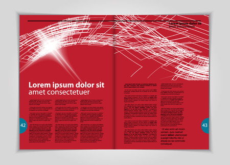 magazine: Magazine layout, vector