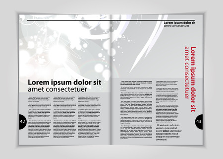 read magazine: Magazine layout, vector