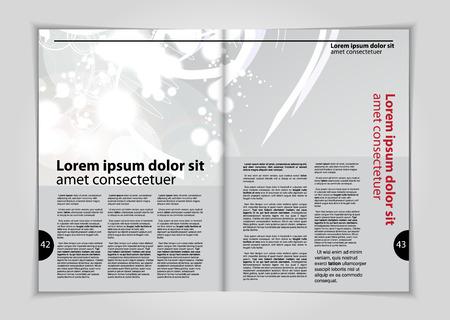 Magazine layout, vector