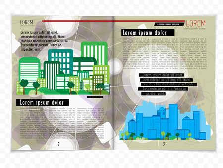 lay-out: Magazine lay-out, vector Stock Illustratie