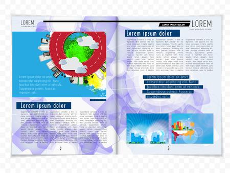 magazine layout: Magazine layout, vector