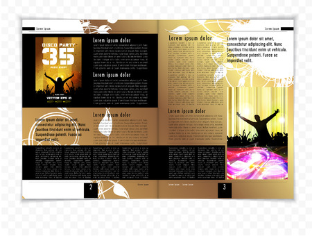 lay-out: Magazine layout, vector