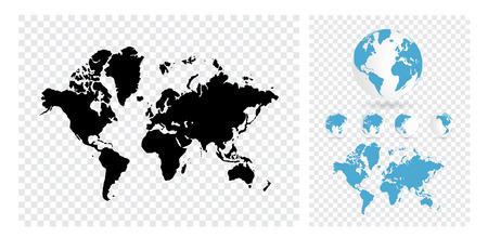 world: carte du monde Banque d'images