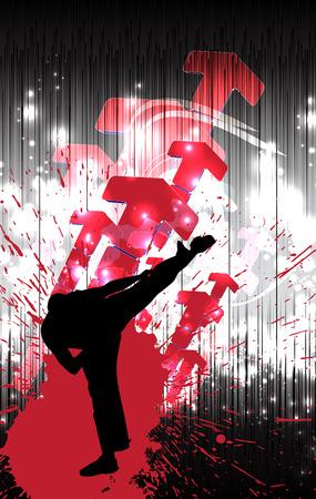 karate: Karate illustration Stock Photo