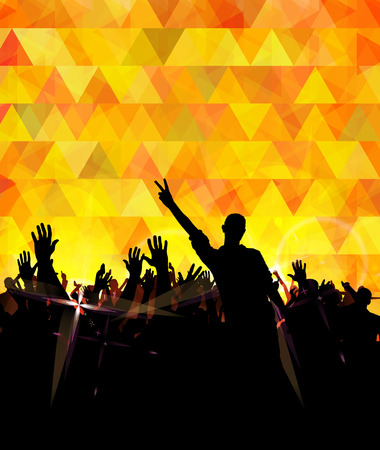 event party: Disco party. Music event background