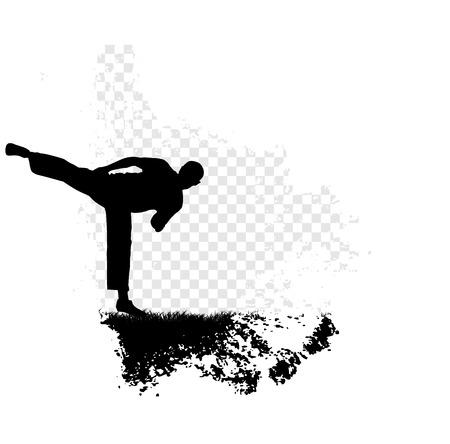 sidekick: Karate illustration Stock Photo