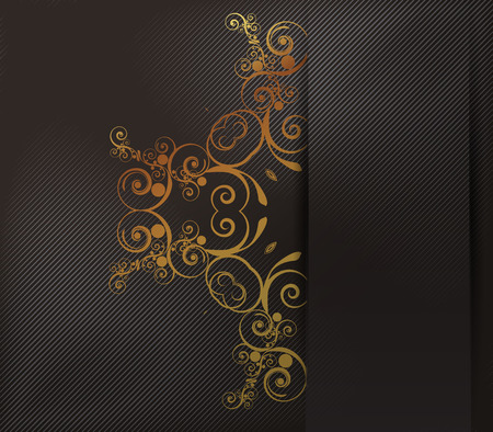 shone: Gold background with floral ornaments