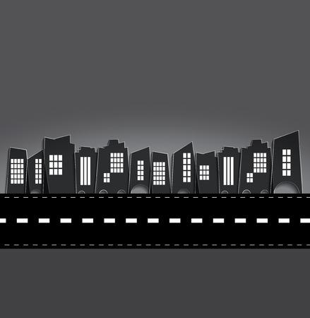 vintage background: Urban landscape Stock Photo