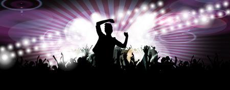 nightclub flyer: Concert illustration
