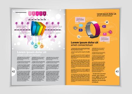 Magazine layout. Editable vector photo