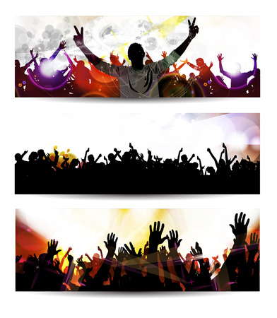 grunge music background: Music event background