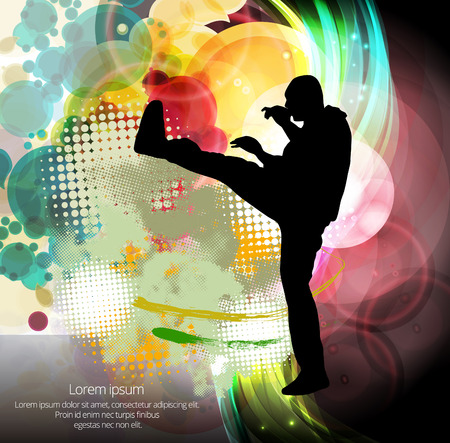sidekick: Karate vector illustration sport Illustration