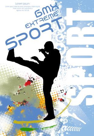 tae: Karate ilustraci�n vectorial deporte Vectores