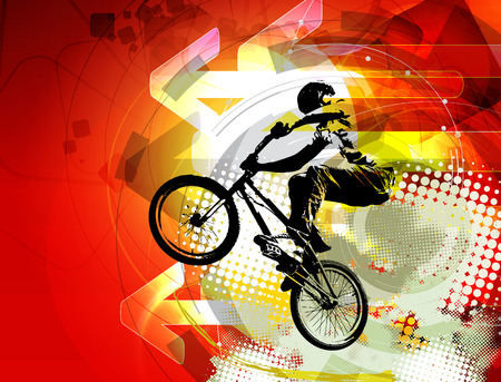 bike riding: BMX rider