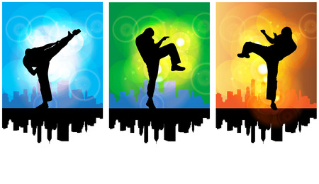 combative: Karate illustartion