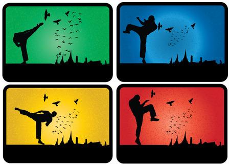 illustartion: Karate illustartion