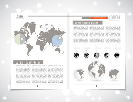 lay-out: Magazine lay-out. Bewerkbare vector