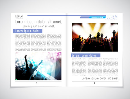 journal: Journal magazine or press layout, vector