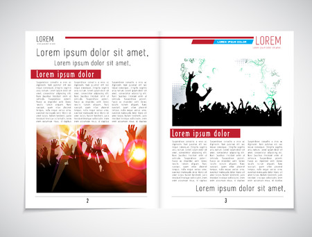 Journal magazine or press layout, vector