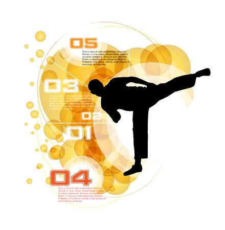 tae: Karate vectorial
