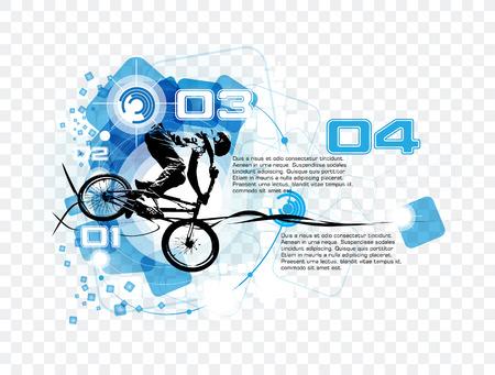 skatepark: BMX rider. Vector