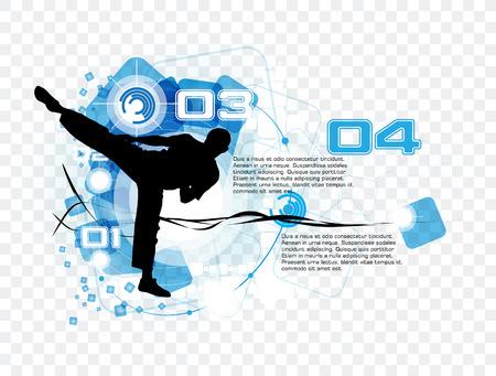 martial: Karate vector Illustration