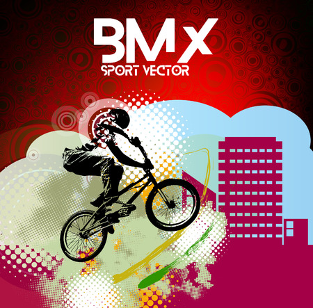 sports vector: BMX rider. Sports vector