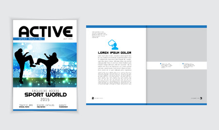 magazine layout: Magazine Layout Vector