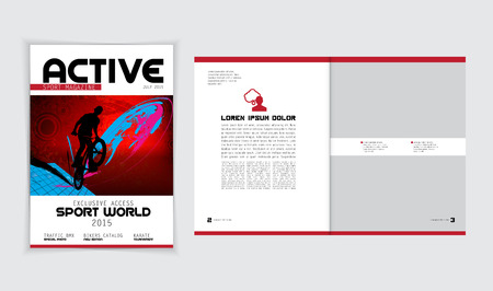 lay-out: Magazine Layout Vector