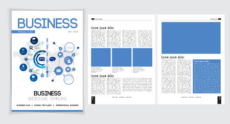 read magazine: Magazine layout, vector