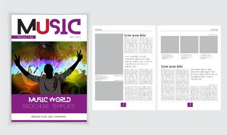 magazine layout: Magazine layout. Editable vector