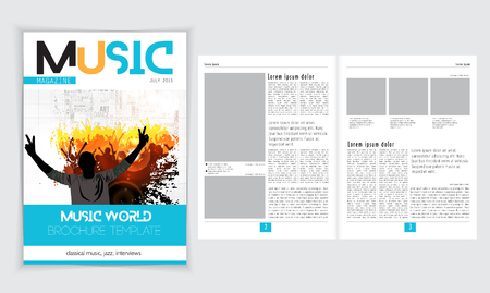 lay-out: Magazine layout. Editable vector