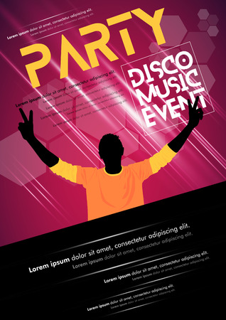 disk jockey: Music event poster Illustration