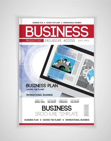 Cover of business magazine, vector