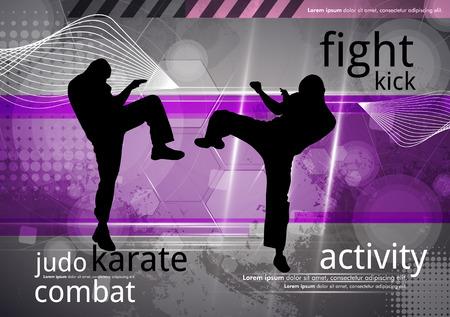 jujitsu: Karate training, vector