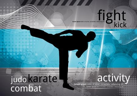 Karate training, vector
