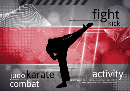 kata: Karate training, vector