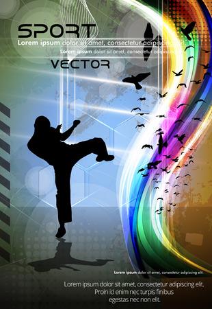 karate fighter: Karate vector Illustration