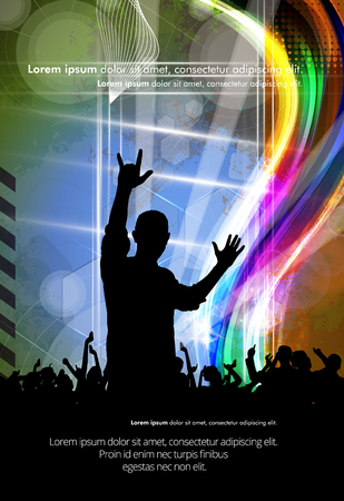 clubing: Music background with dancing people
