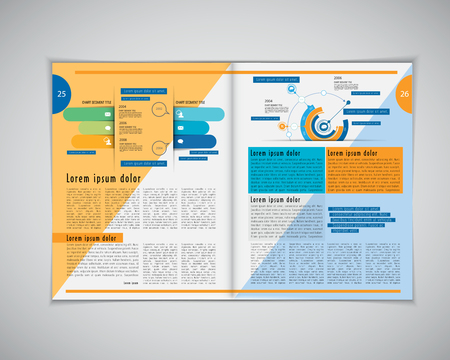 magazine layout: Business magazine layout, vector Illustration