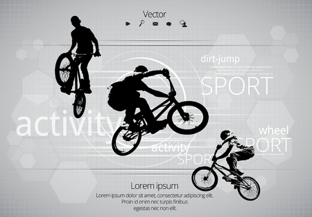 exercise bike: BMX biker. Vector