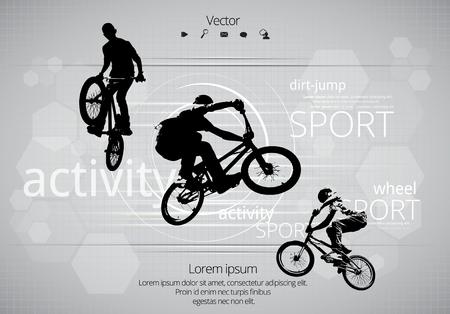 bicicleta vector: Motorista de BMX. Vector Vectores