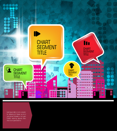 Modern city background. Vector Illustration