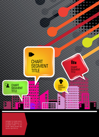 carriageway: Modern city background. Vector Illustration