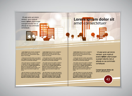 Magazine lay-out, vector Stock Illustratie