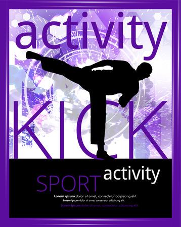 karate: Karate training, vector