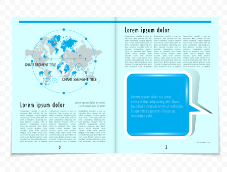 lay-out: Business magazine layout