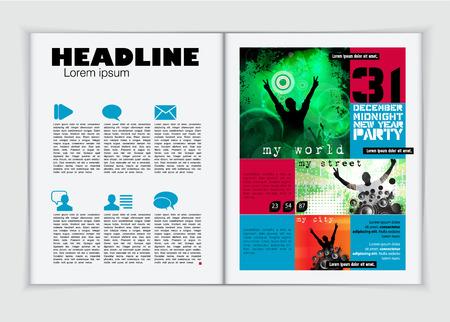 page layout: Magazine layout design