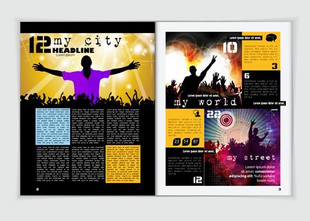 magazine design: Magazine layout design