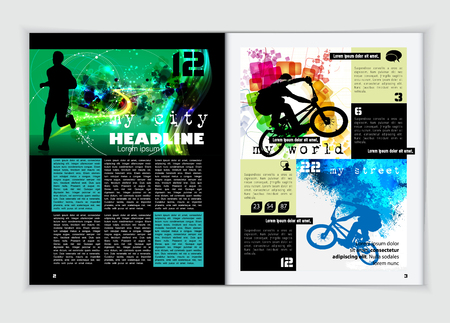 magazine layout: Magazine layout design